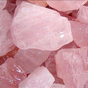 Pedra Quartzo Rosa Bruta 600g