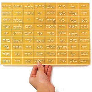 72 Nomes de Deus G - Placa com Gráfico em Cobre