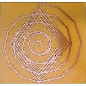 Placa Espiral Cósmico G - Gráfico em Cobre