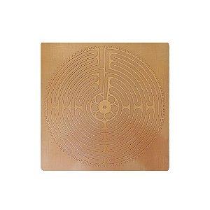 Placa Labirinto Chartres Cobre Maciço