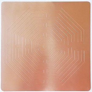 Placa Labirinto D´Amiens Cobre Maciço