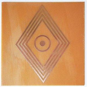Placa Losango Solar G - Gráfico em Cobre