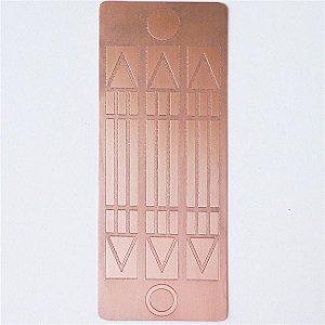 Placa Luxor Cobre Maciço 6cm x 13cm