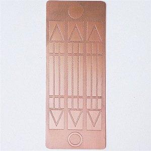 Placa Luxor Mini  Cobre Maciço 2,5 x 6cm