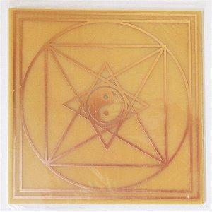 Placa Pirâmide de Tao M Gráfico em Cobre