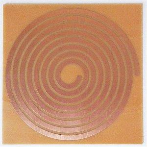 Placa Radiônica Espiral - Gráfico em Cobre