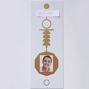 Placa Radiônica Cruz Ansata - Em PVC