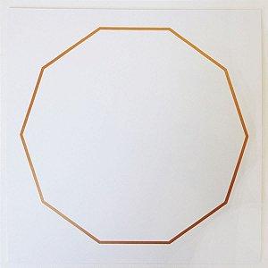 Placa Radiônica Decágono - Em PVC