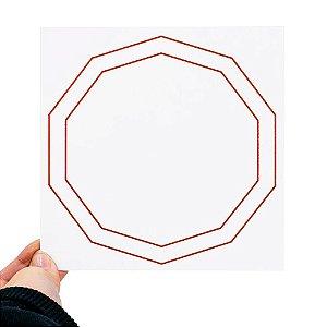 Placa Radiônica Decágono Duplo - Em PVC