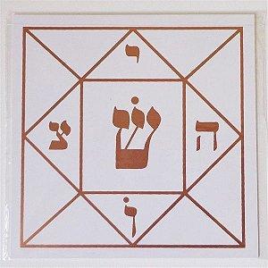 Placa Radiônica Quadrado Mágico - Em PVC
