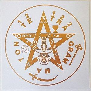 Placa Radiônica Tetragrammaton - Em PVC