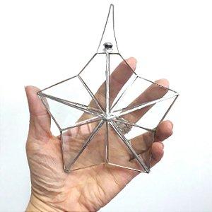 Prisma de água Estrela 5 Pontas Juntas Metálicas 14cm