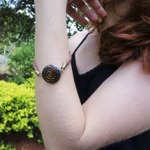 Pulseira Orgonite Espiral em Cobre