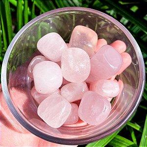 Pedra Quartzo Rosa Rolada 100g