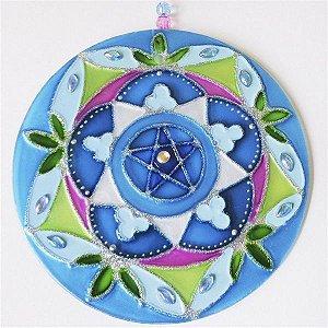 Ativador Energético Mandala Folhas Azul