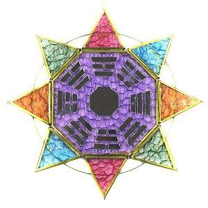 Baguá Estrela Espelhado Colorido