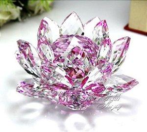 Flor de Lótus de Cristal Efeito Violeta