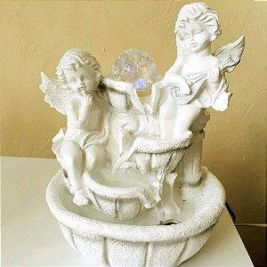 Fonte de Água Decorativa Anjo da Guarda Led Colorido