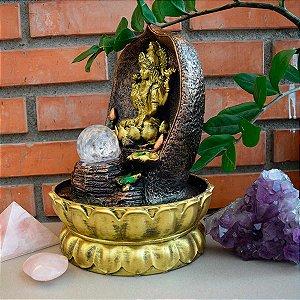 Fonte de Água Decorativa Deusa Lakshmi da Abundância