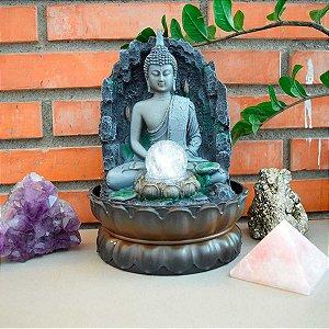 Fonte Decorativa Buda Tibetano da Prosperidade