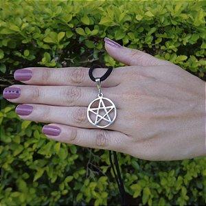 Gargantilha Pentagrama em Prata P e M