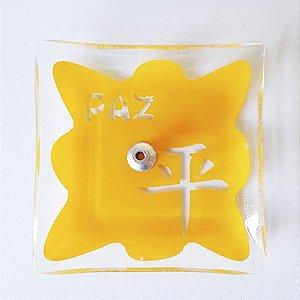 Incensário de Vidro Ideograma Paz