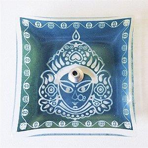 Incensário de Vidro Máscara Hindu