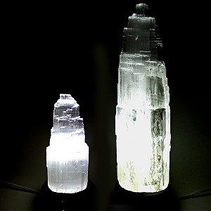 Luminária de Selenita para Ligação com o Eu Superior
