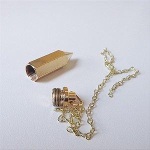 Pêndulo Testemunho Banho Ouro e Níquel