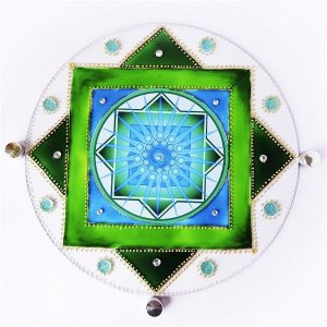 Quadro Mandala dos Sonhos em Vidro