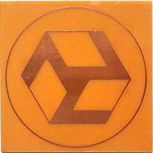 Placa Antahkarana - Gráfico em cobre