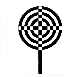 Placa Radiônica - Cruz Atlante em PVC