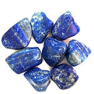 Pedra Lápis Lazuli Rolada Pacote 100g