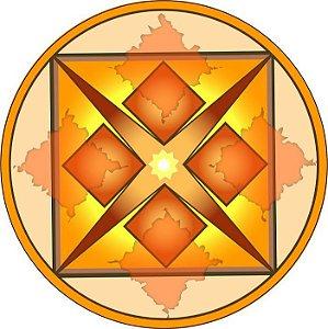 Adesivo Parede Mandala Dinheiro 15cm