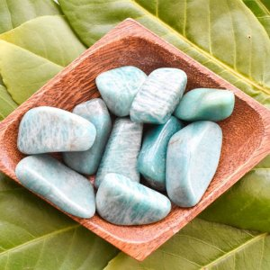 Pedra Amazonita Rolada Clara Pc 100g