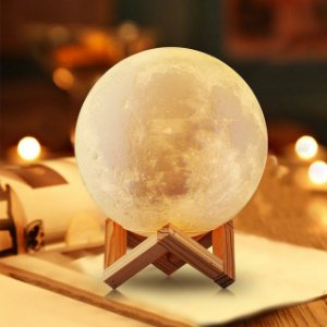 Luminária Lua Cheia - Acendimento por Toque