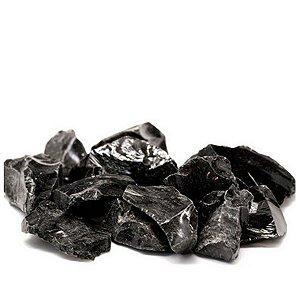 Pedra Obsidiana Negra  Bruta 100g