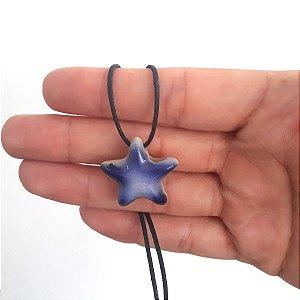 Colar Aromatizador Pessoal - Estrela de Cerâmica