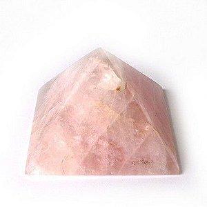 Pirâmide de Quartzo Rosa - 300g