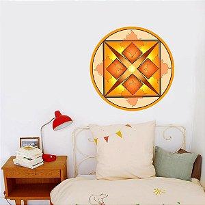 Adesivo Para Parede Mandala da Dinheiro 60cm