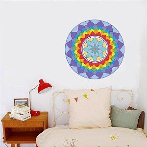 Adesivo Para Parede Mandala Criatividade 60cm