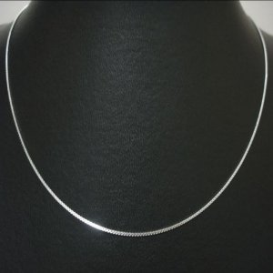 Corrente Veneziana fina prata lei 50cm