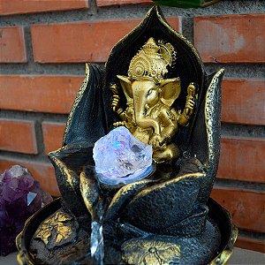 Fonte de Água Decorativa Ganesha da Prosperidade