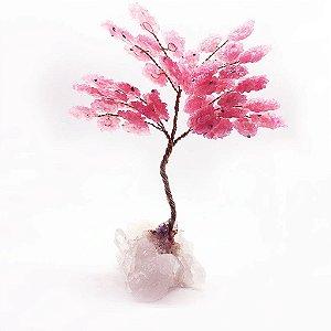 Árvore da Abundância de Quartzo Rosa 24cm