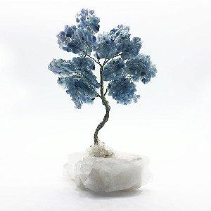 Árvore da Abundância de Quartzo Azul 24cm