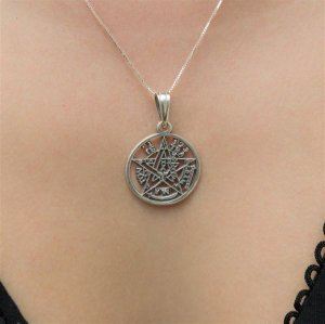 Gargantilha Tetragrammaton Vazado Prata 950