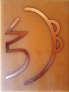 Placa Sei He Ki Gráfico em Cobre 9x12cm