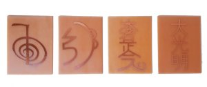 Kit 4 Placas Simbolos do Reiki Grafico Cobre