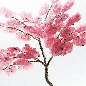 Árvore da Abundância de Quartzo Rosa 13cm