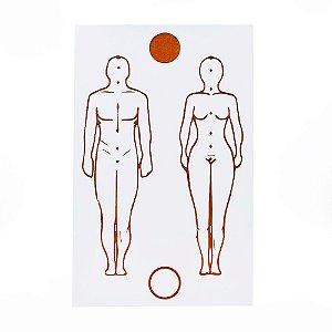 Gráfico Figura Humana Placa Radiônica Grande PVC